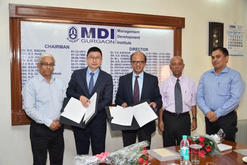 MDI Gurgaon MoU ESCP Europe