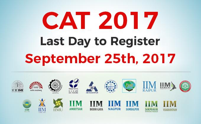 CAT Registration Extended to September 25, 2017