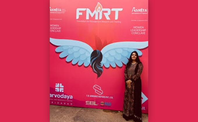 MICA Professor awarded Woman Academic Leader Award by FMRT
