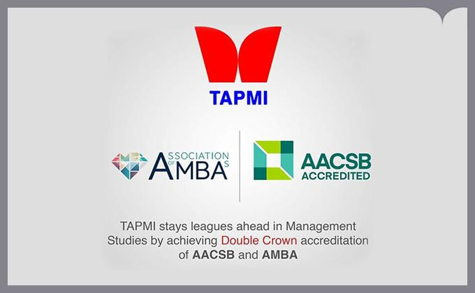 TAPMI Manipal achieves the Double Crown Accreditation of AMBA and AACSB