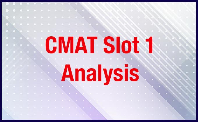CMAT 2019 Slot-1 Analysis (Morning Shift 9:30 am to 12:30 pm)