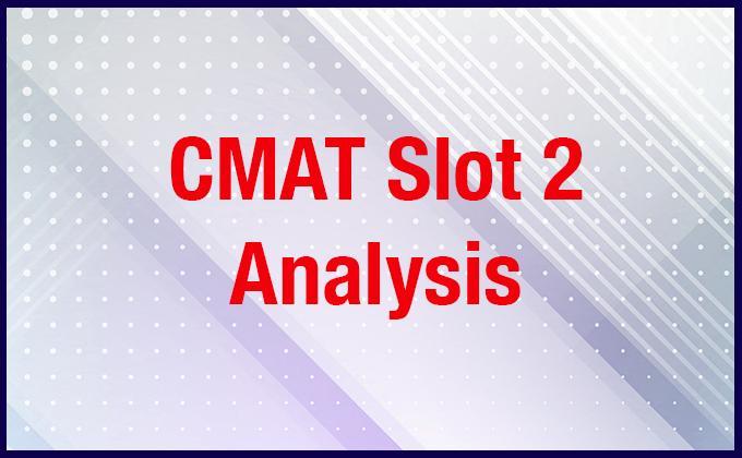 CMAT Analysis Slot-2 2019