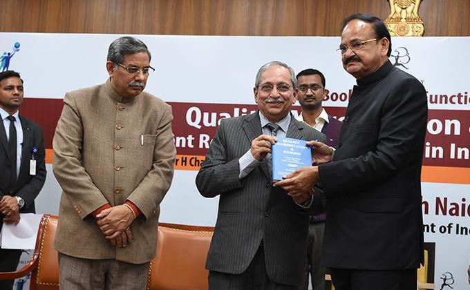 "Shri M Venkaiah Naidu launches Dr H Chaturvedi's Book on ""Quality, Accreditation & Ranking"" at New Delhi"