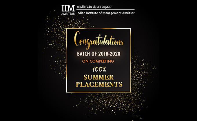 Summers 2018-19  (PGP04 of IIM Amritsar)