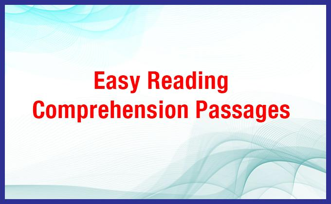 Easy Reading Comprehension Passages with Questions/Answers