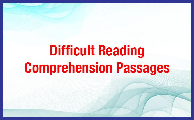 Difficult Reading Comprehension Passages PDF, Ielts