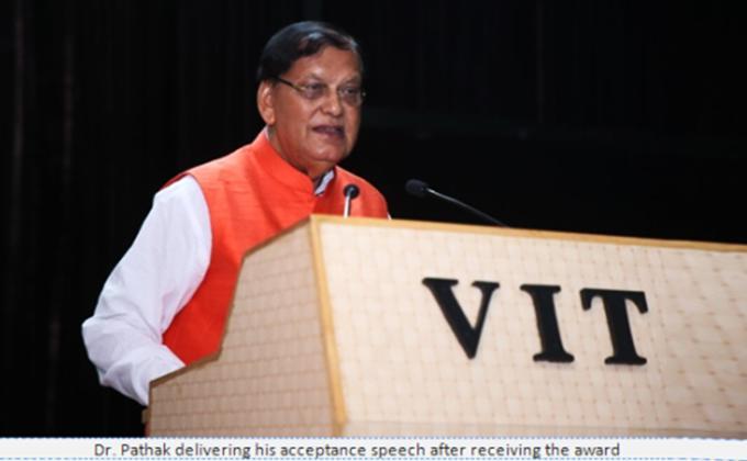 VIT Person of the Year (2018) award presented to Dr. Bindeshwar Pathak